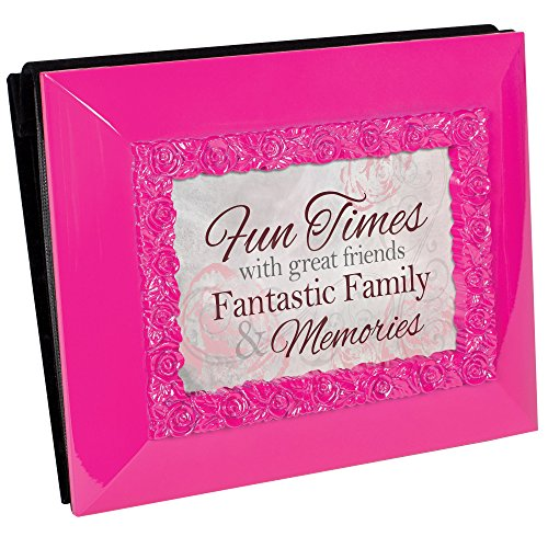 - Cottage Garden Fun Times Friends Family Memories Glossy Pink Photo Frame Picture Album