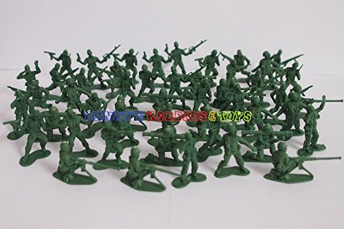 Lady Sif Costume Uk (Shallen New Plastic Army Men 3cm Figures (50pcs) Military Set Toy Soldiers - Green Color)
