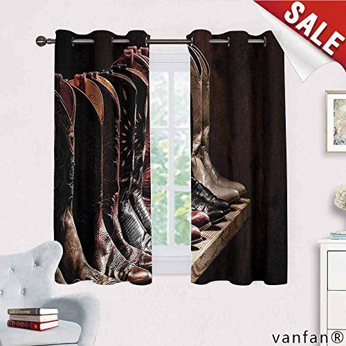 Big datastore Western, Curtain Set of 2,Photograph of