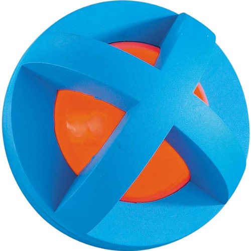 Multi-Pet Plastic and Rubber Boingo Ball Dog and Cat Toy, Small, Colors Vary