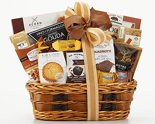 Wine Country Gift Basket Bon Appetit Gourmet Food Gift Basket Perfect Gift Chocolate Ghirardelli Godiva Brownie Brittle Snack Mix Cookies Snack Filled Woven Reusable Basket For Him or Her (Best Gourmet Food Gift Baskets)
