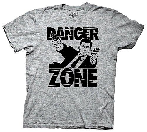 Archer Gun Battle Herren Grau T-Shirt