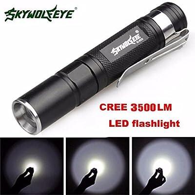 mitlfuny Mini 3500LM Zoo Mabel Q5Lampe torche LED avec Idéal pour le camping, la randonnée et promenade de chien (A), multicolore