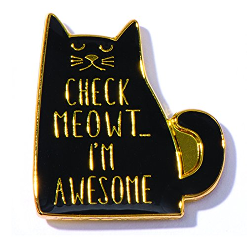 Check Meowt I'm Awesome Appreciation Award Lapel Pin, 1 (Appreciation Lapel Pin)