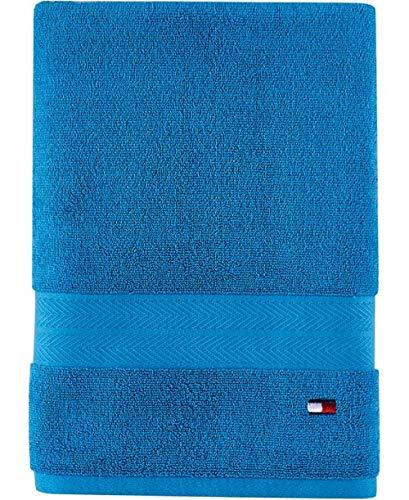 Tommy Hilfiger Modern American Bath Towel, 30 x 54 inch, Swedish Blue
