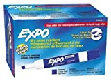 Expo Chisel Tip Dry Erase Marker, Blue, Pack of 144