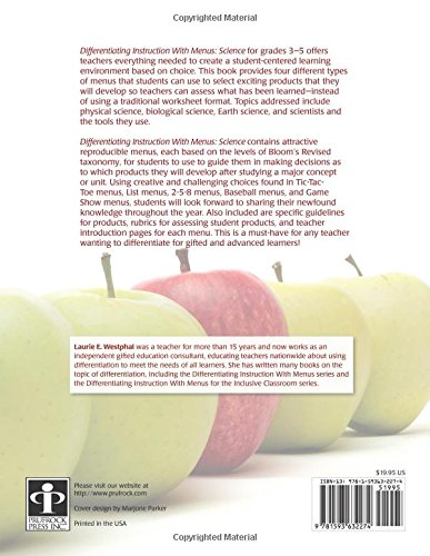 Amazon.com: Differentiating Instruction With Menus: Science ...