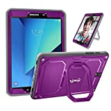 Fintie Shockproof Case for Samsung Galaxy Tab S3 9.7, [Tuatara Magic Ring] 360 Rotating Multi-Functional Grip Stand Cover Built-in Screen Protector for Galaxy Tab S3 9.7 (SM-T820/T825/T827), Purple