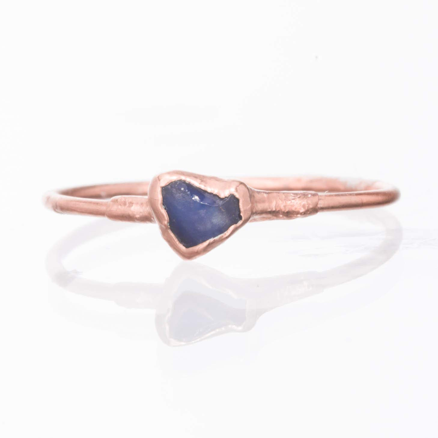 Boho style Ring Sapphire Engagement Ring Crystal Ring Raw Sapphire Ring for Women Dainty Ring Sterling Gold Ring best gift for her