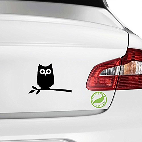 Owl Bird in Tree Decal Sticker (black, 5 inch) (Decals Wall Inch Birds 5)