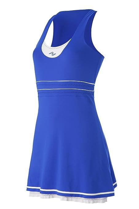 Naffta Tenis Pádel Vestido, Mujer, Azul Francia/Blanco, S