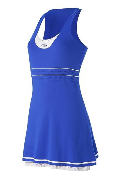 Naffta Tenis Pádel Vestido, Mujer, Azul Francia/Blanco, S: Amazon ...