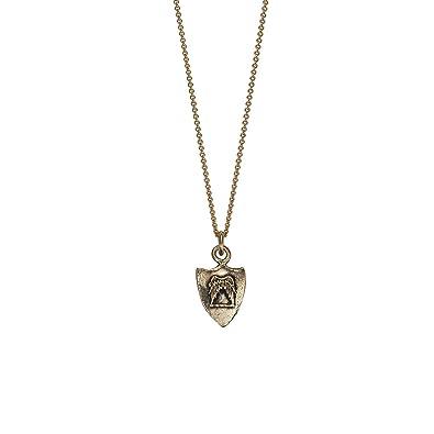 18b2f91e8 Amazon.com: Pyrrha Design 14K Yellow Gold Talisman Necklace - Two Wings:  Jewelry