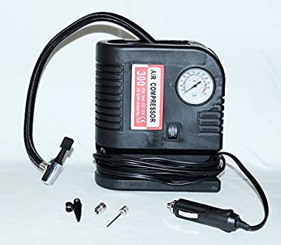 PrimeTrendz TM 300 PSI Portable Air Compressor - Tire Inflator - 12V