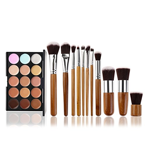 Tinksky 15 Colors Cosmetics Cream Contour-Contouring Foundation Concealer Palette Highlighting...
