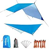 cover 6 gear - Unigear Hammock Rain Fly Waterproof Tent Tarp Camping Backpacking Tarp Shelter, Lightweight for Survival Gear, 6 Stakes and Ropes Included, Made from 210D Oxford Fabric