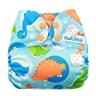 Mama Koala One Size Pocket Washable Adjustable Cloth Diaper,Dino Party(Fits 8-35 Lbs)