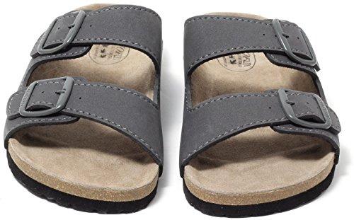 Herren Bio Clogs Tieffußbett Pantolette Sandalen Slipper STONE GREY Gr. 42-45