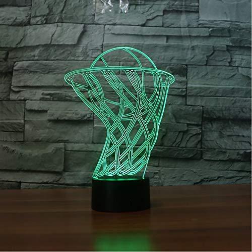 Caja De De De Baloncesto 3D Lámpara Led 7 Cambio De Color Luz De Noche Acrílico Usb Lámpara De Mesa Dormitorio Usb Luz De Noche Accesorios Para Niños 2c400b
