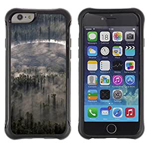Pulsar Defender Series Tpu silicona Carcasa Funda Case para Apple iPhone 6(4.7 inches) , Nature Forrest Clouds
