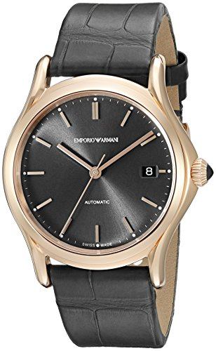 Emporio Armani Swiss Made Men's ARS3104 Analog Display Swiss Quartz Grey Watch