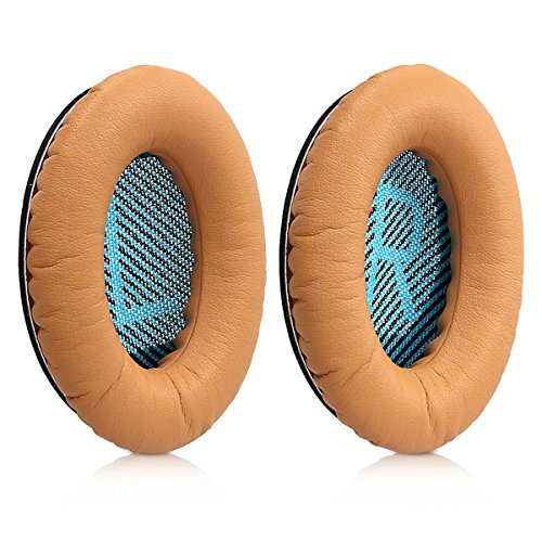 kwmobile 2x earpads for Bose Quietcomfort Earphones - Leatherette replacement ear pad for Bose Headphones - light brown by kwmobile