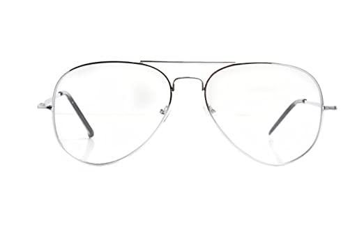Amazon.com: Silver Wire Frame Clear lensed \'Napoleon Dynamite ...