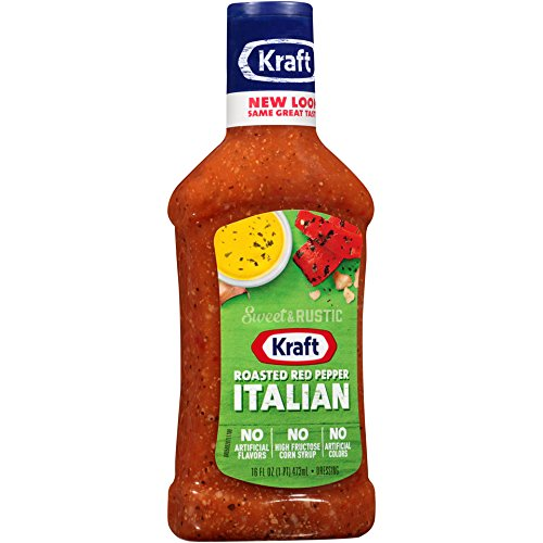Kraft Brand Dressing Roasted Red Pepper Italian, 16 oz (Pepper Salad)