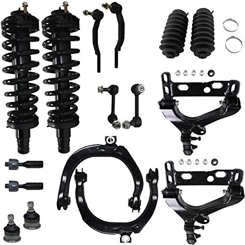 Detroit Axle - Brand New 16pc Complete Front Suspension Kit for Chevy Trailblazer and GMC Envoy