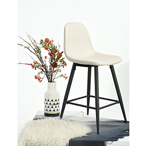 Fabric Cushion Counter Stool - 4