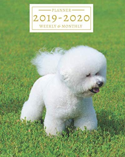 2019-2020-16-Month-Weekly-and-Monthly-PlannerCalendar-Sept-2019-Dec-2020-Bichon-Frise-Cute-Fluffy-White-Dog
