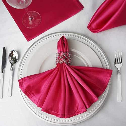 - Mikash 20 Satin Napkins Wedding Party Shower Table Supply Decorations Wholesale | Model WDDNGDCRTN - 4402 | 250 pcs