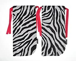 Shoe Tote Travel Bag in Zebra - 1 Pair of 7\