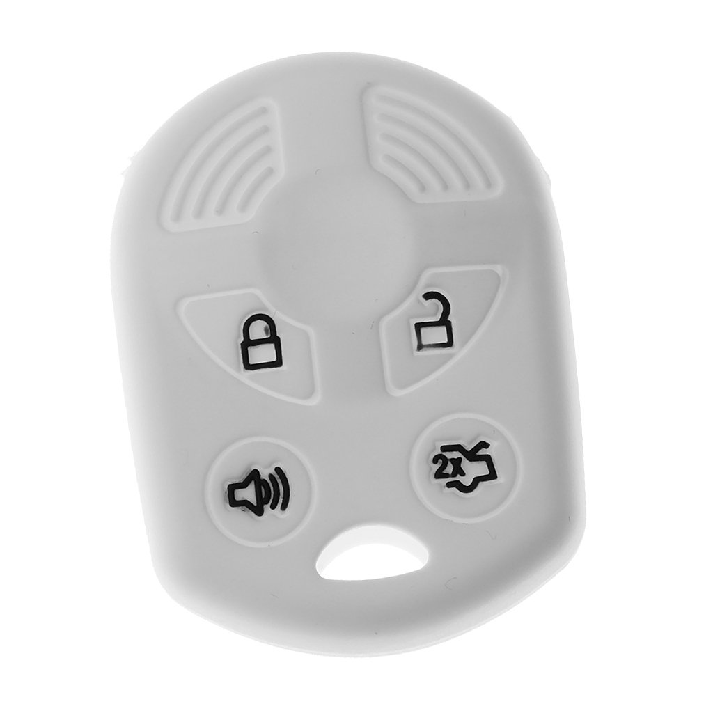 MagiDeal Car Key Silicone Case Cover - White, as described
