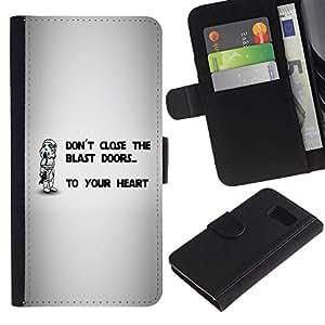 Ihec-Tech / Flip PU Cuero Cover Case para Samsung Galaxy S6 SM-G920 - Don'T Close The Blast Doors