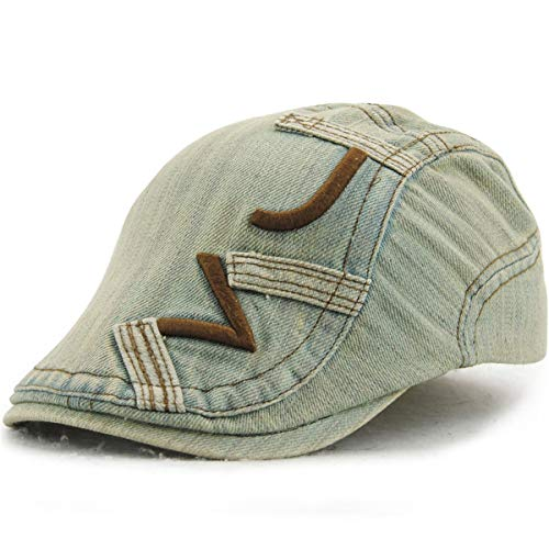 Sombrero Casual del D del Pato Libre Femenino hat Sol la Masculino algodón Bordado qin Boina Sombreros de al del Aire Sombrero C GLLH Sombrero Denim y q87anz