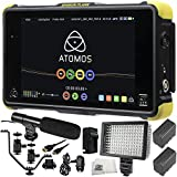 Atomos Shogun Flame 7'' 4K HDMI Recording Monitor 12 PC Accessory Kit. Includes 2 Replacement F970 Batteries + AC/DC Rapid Home & Travel Charger + Mini HDMI Cable + More
