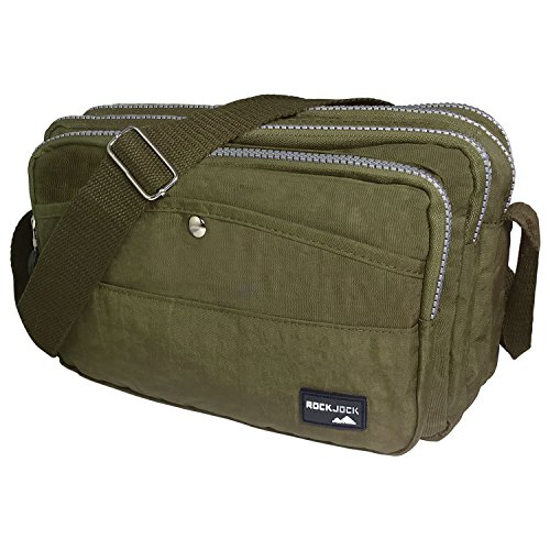 SHOULDER PARIELLA MULTI TM CROSS by ROCKJOCK BODY POCKET HAND LADIES TRAVEL Olive WOMENS CASUAL BAG wYzZ5fx5