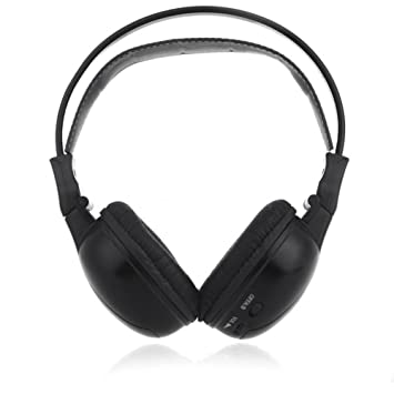 Caliente Dos Canal plegable universal sistema de entretenimiento trasero infrarrojos auriculares reproductor de DVD Head teléfonos