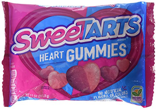 Wonka Sweetarts Tangy Candy Valentine's Gummy Hearts, 11-ounce Bags (Single (Sale Valentine Hearts)