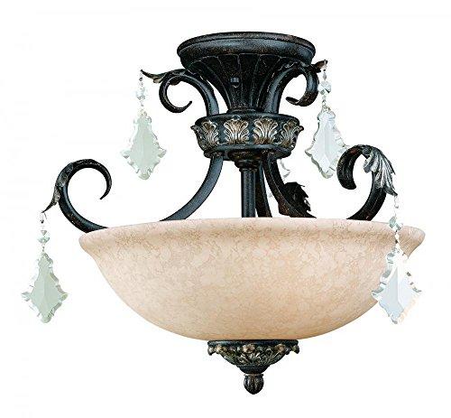 (Dolan Designs 2105-148 3Lt Flush Phoenix Florence 3 Light Semi Flushmount )