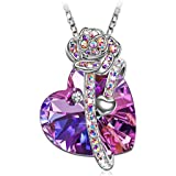 Bala Silver Heart Double Heart Pendant Necklace...