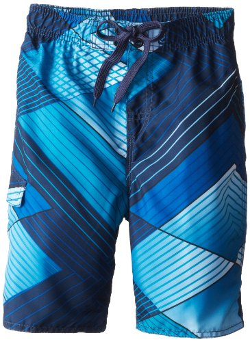 Kanu Surf Big Boys' YOLO Quick Dry Beach Swim Trunk, Navy, Medium (10/12)