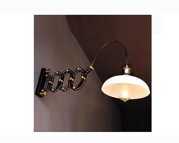 Weiting bianco ferro lettura regolabile vintage parete lampade