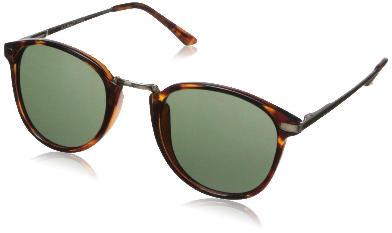 A.J. Morgan Unisex - Adult Castro Round Sunglasses,Tortoise,198 mm by A.J. Morgan