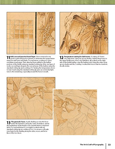 The Art & Craft of Pyrography: Drawing with Fire on Leather, Gourds, Cloth, Paper, and Wood (Fox Chapel Publishing) More Than 40 Patterns, Step-by-Step Projects, and Expert Advice from Lora S. Irish by Design Originals (Image #4)