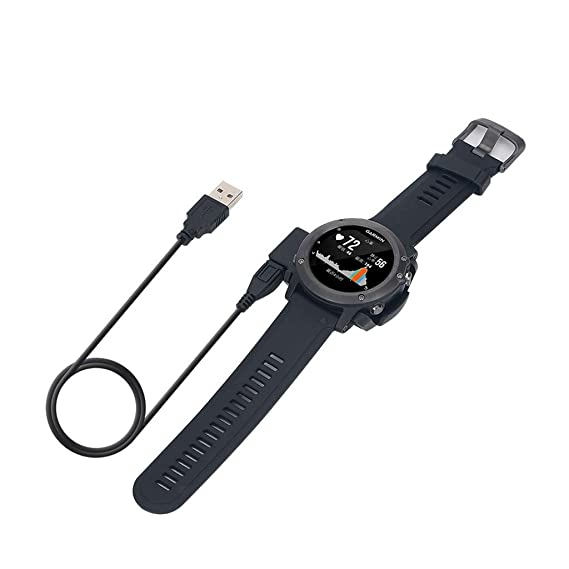 BASSK Cargador para Garmin Fenix 3 / HR Quatix 3 Reloj: Amazon.es ...