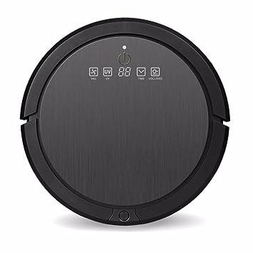 JJYJQR Robot Aspirador App Wifi Mango Aspirador Robótico De Poder De Succión Fuerte Auto Limpiar Tipos De Suelo Y Alfombras De Moqueta Seco/Húmedo, ...