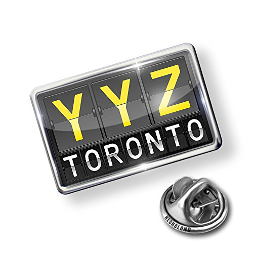 Lapel Pins Toronto - NEONBLOND Pin YYZ Airport Code for Toronto - Lapel Badge