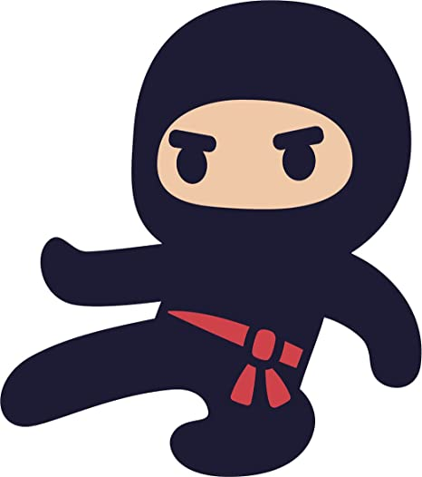 Divine Designs Adorable Kawaii Japanese Kid Ninja Cartoon Icon Vinyl Decal Sticker (4